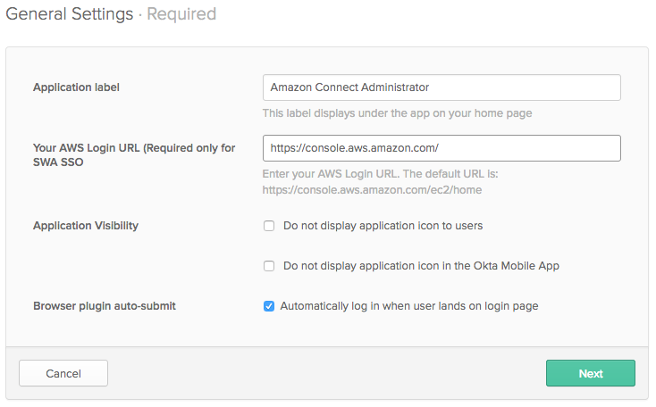 Configure Single Sign-On for Amazon Connect Using Okta | AWS Contact