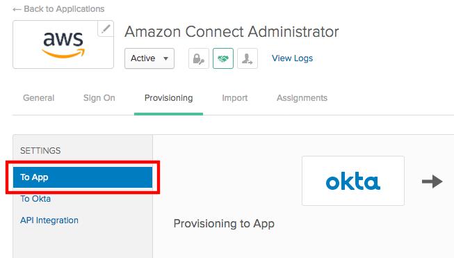 Configure Single Sign-On for Amazon Connect Using Okta   AWS Contact