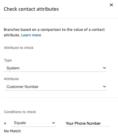 Check Contact Attributes