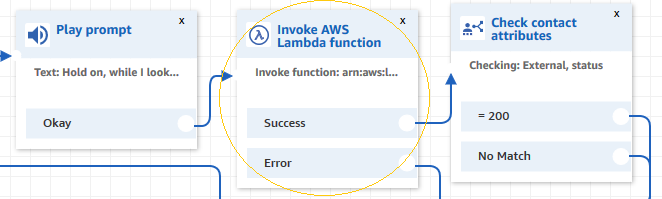 First Lambda function in Contact Flow