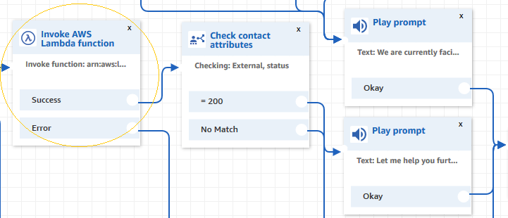 Second Lambda function in Contact Flow