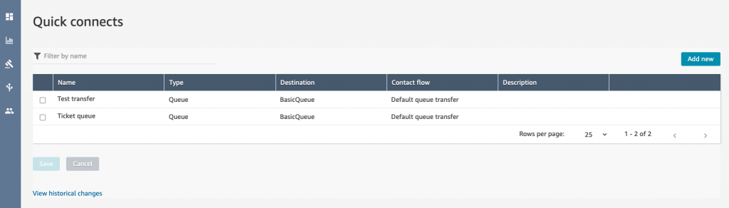 Quick Connects in Amazon Connect