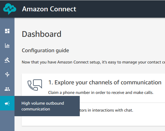 Amazon Connect high volume outbound communications