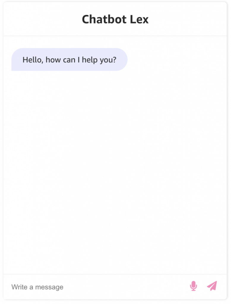Updated Chatbox Lex