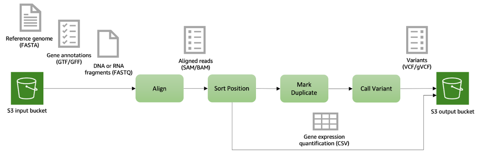 secondary analysis pipeline for DNA and RNA-sequenced data