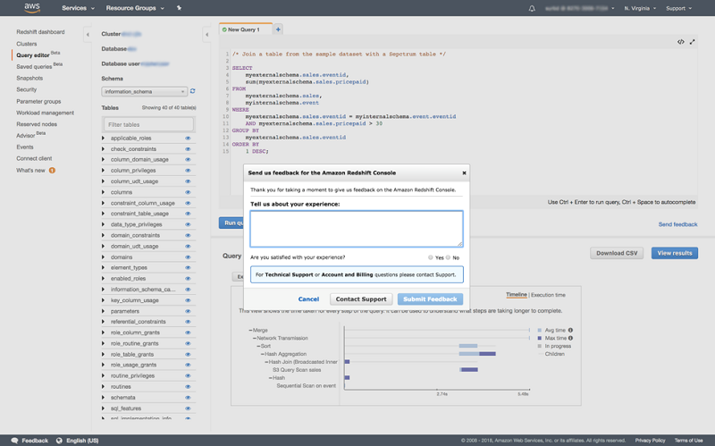 Query your Amazon Redshift cluster with the new Query Editor | AWS