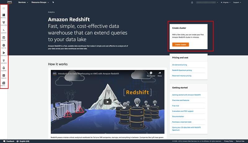 Simplify management of Amazon Redshift clusters with the Redshift console