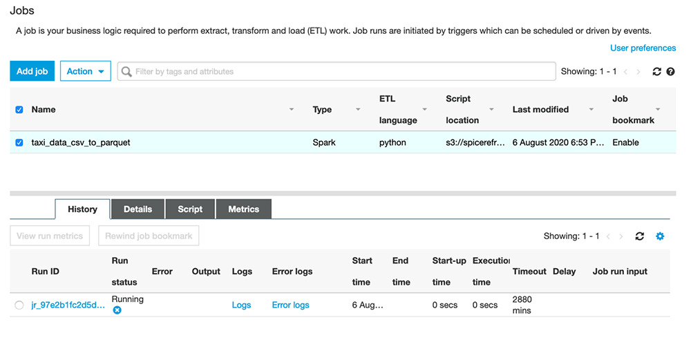 spice datasets in quicksight 2