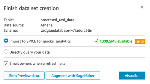 spice datasets in quicksight 5