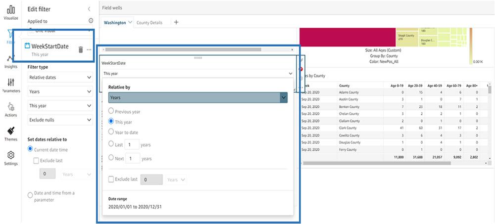 quicksight dashboard filtering 8
