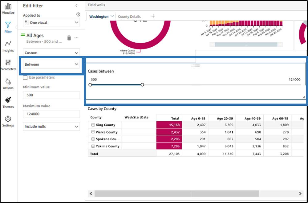 quicksight dashboard filtering 9
