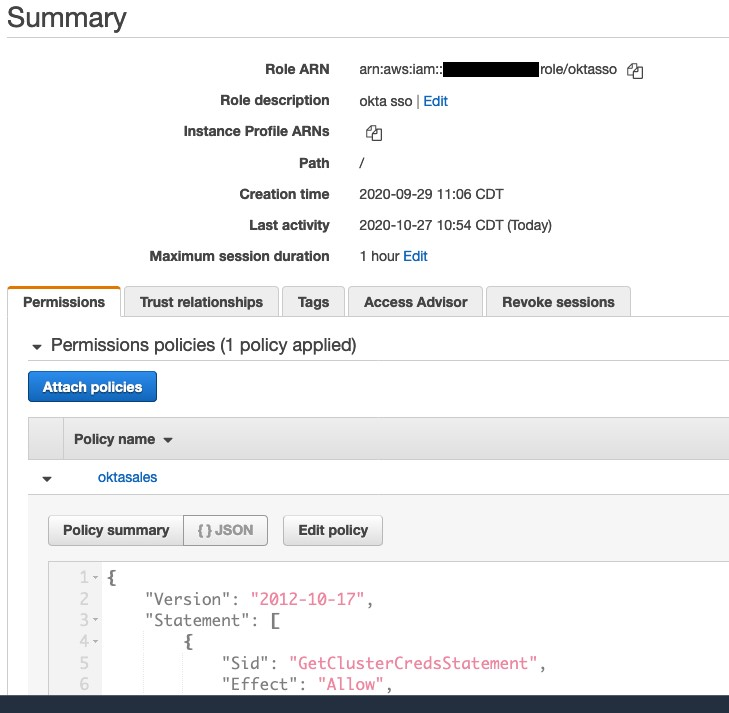 Federated API access to Amazon Redshift 6