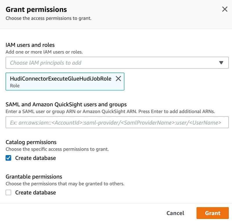 You can grant this permission in Database creators section under Admins and database creators tab.