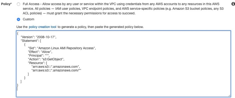 Select the Amazon VPC where the Amazon Redshift cluster is running