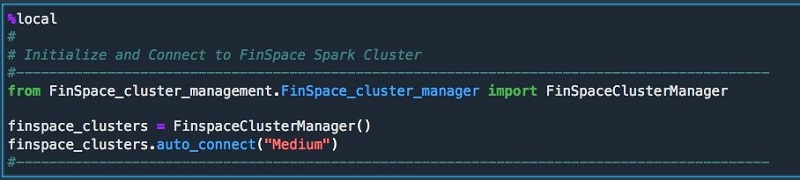 You begin by starting and connecting to the Spark cluster.