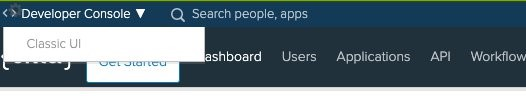 After login, if you're viewing the Developer Console, you can switch to Classic UI.
