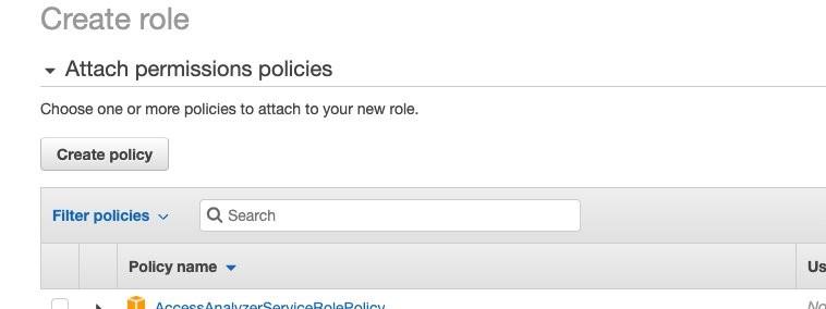 Choose Create policy.