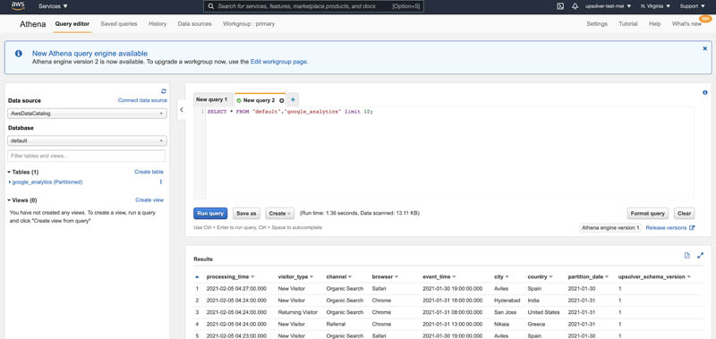 Easily ingest and analyze Google Analytics data with Upsolver and Amazon AppFlow | Amazon Web Services