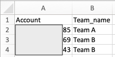 Account to Team Mapping