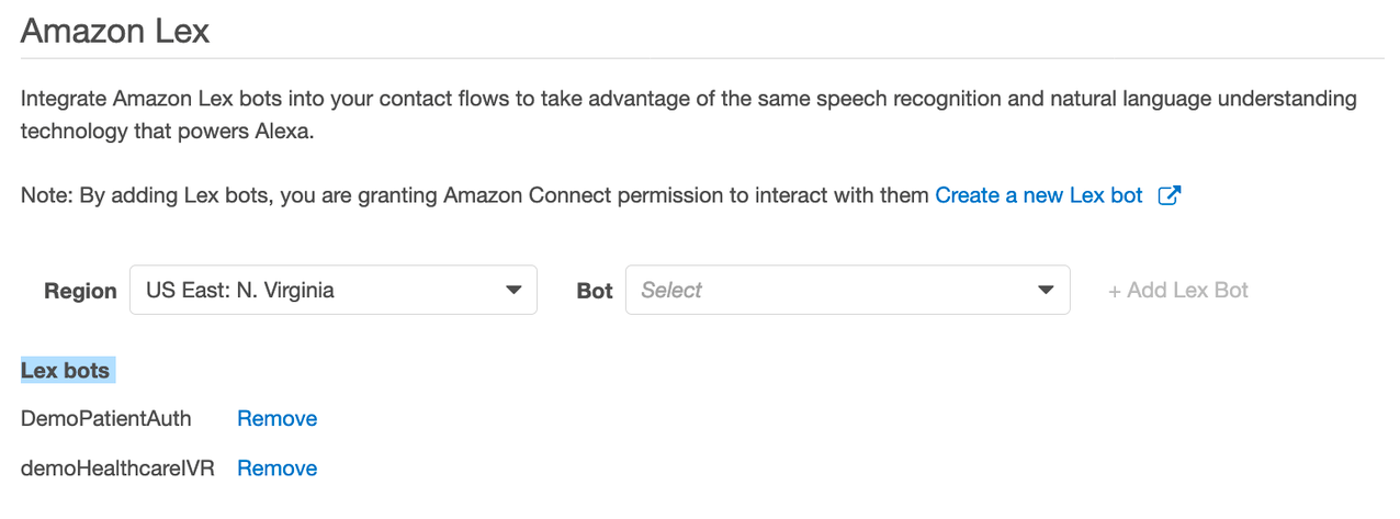 Amazon Connect instance.