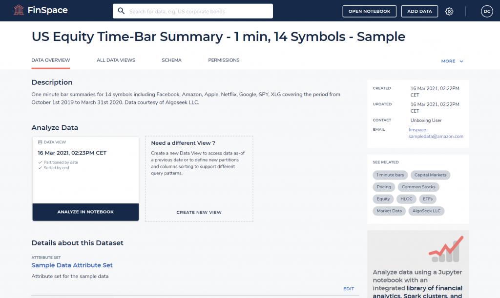 Amazon FinSpace Data Sample