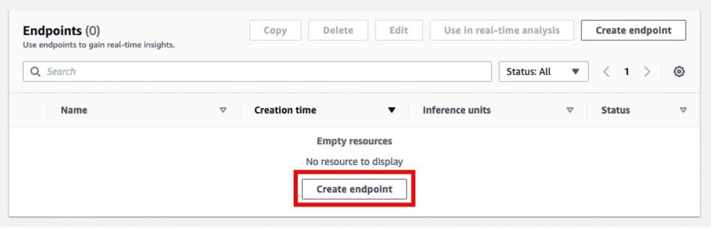 """Select """"Create Endpoint"""""""