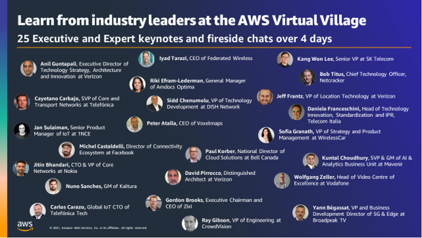 AWS MWC learn from industry leaders
