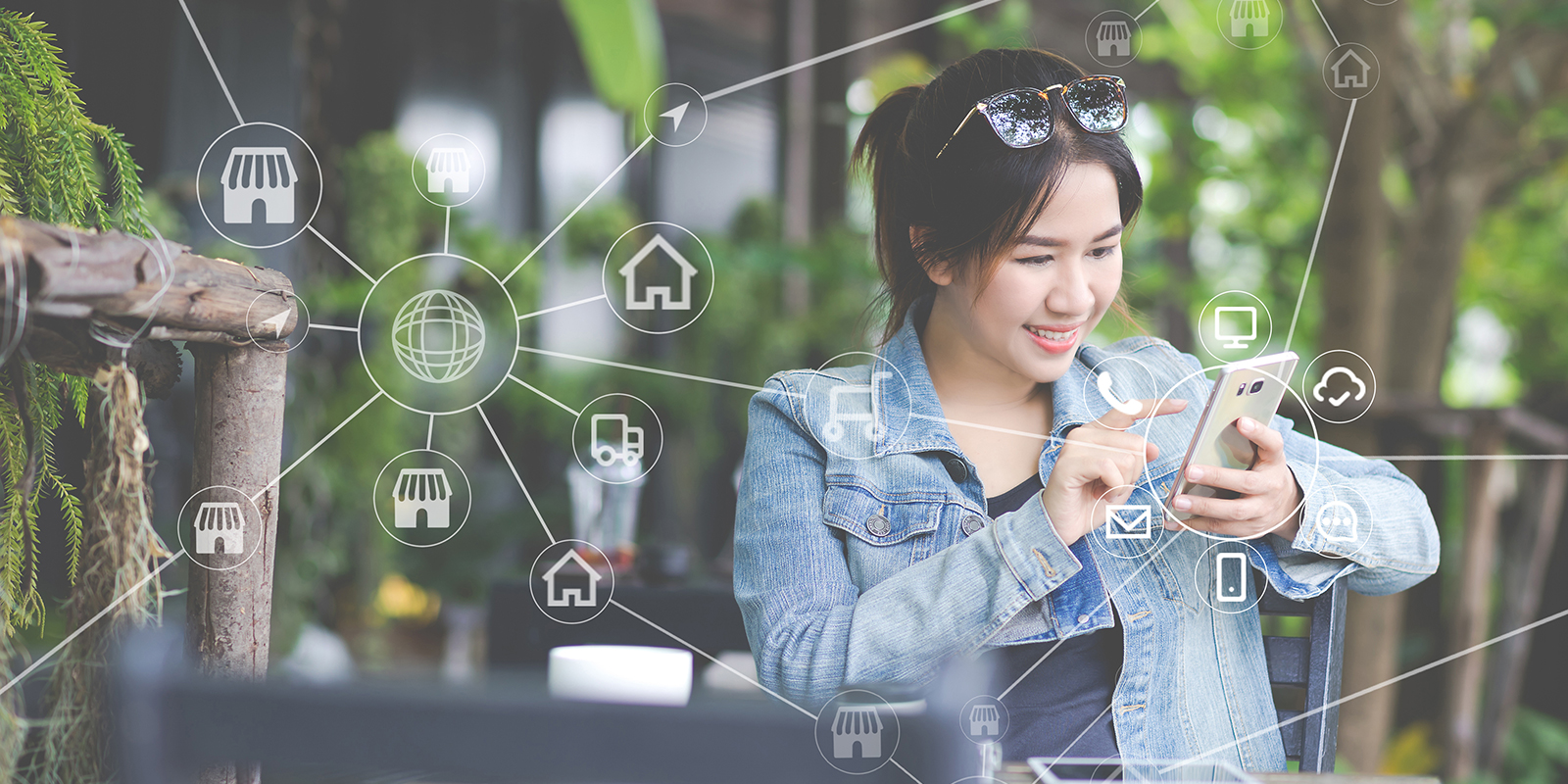 woman-using-mobile-payments-online-shopping-and-icon-customer-network-connection-on-screen-m-banking-and-connecting-with-omni-channel-vendor-internet-of-thing-multi-channel-or-omni-channel-concept