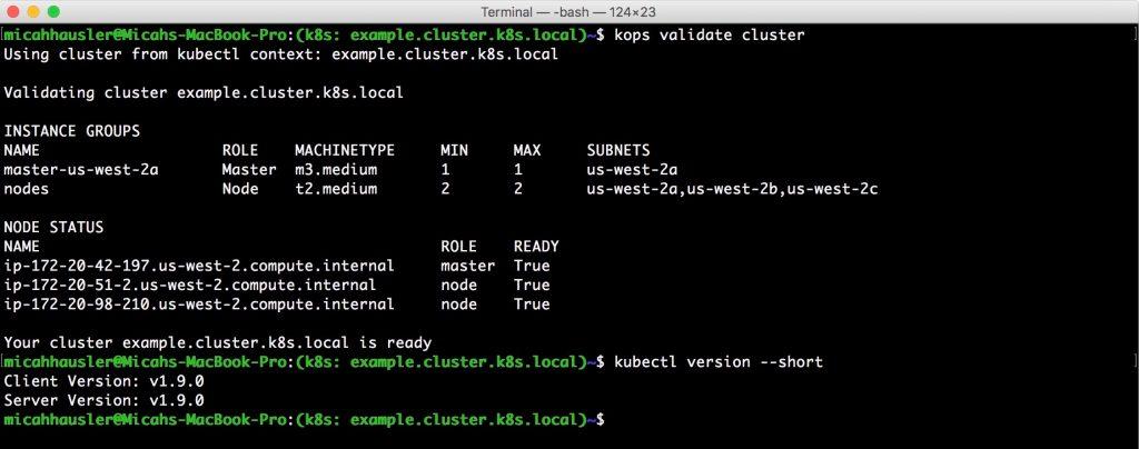 validate cluster
