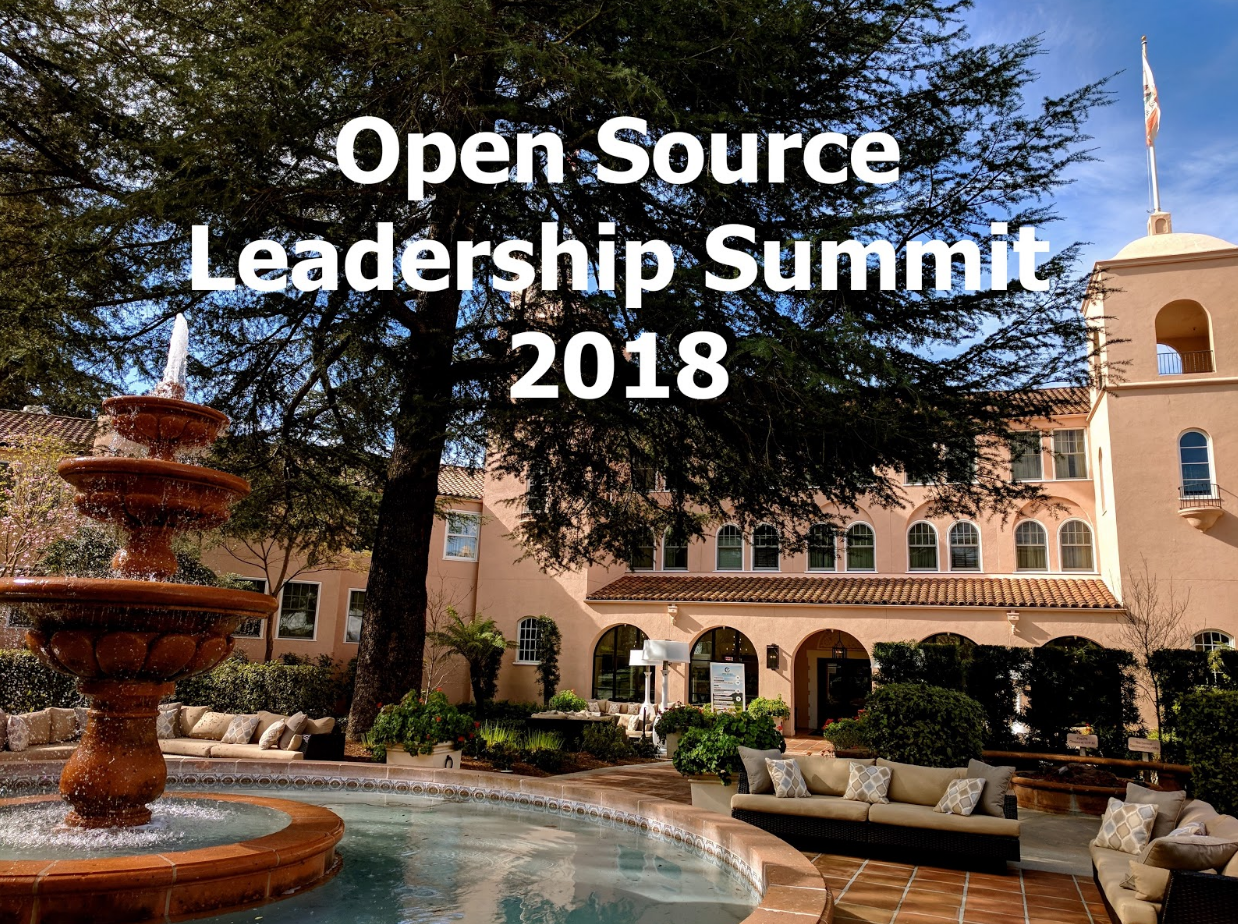 Open Source Leadership Summit 2018 Sonoma