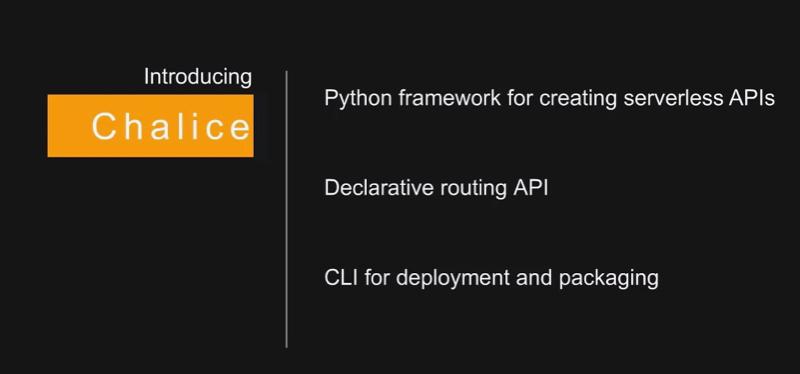 AWS Chalice Python framework