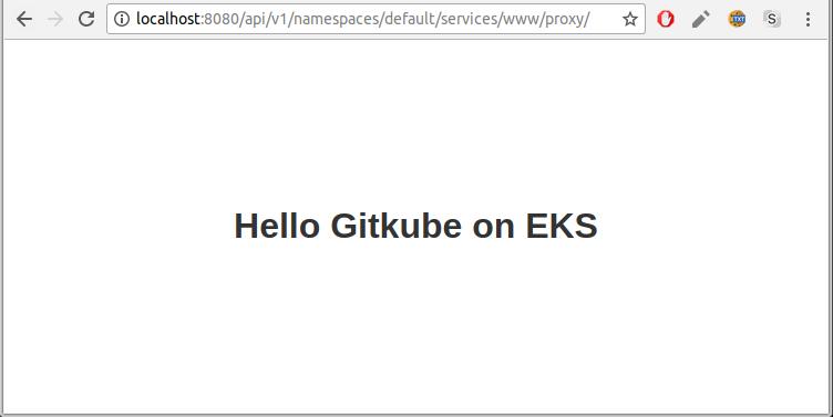 Hello Gitkube on EKS screen