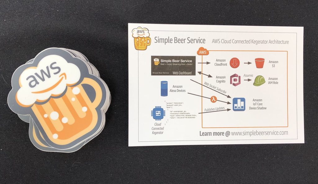 AWS beer sticker