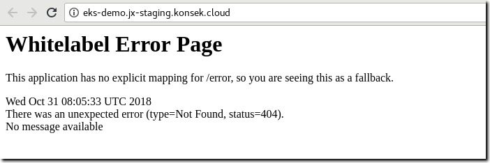 Spring Whitelabel error message