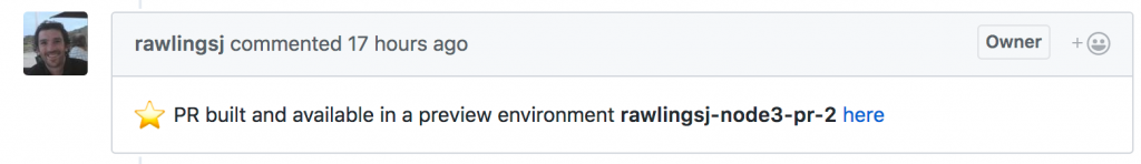 Preview Environment for pull request