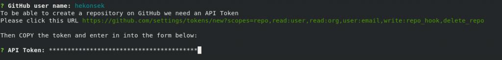 define GitHub API token