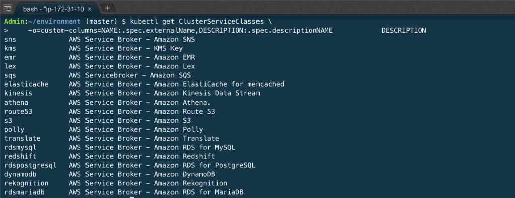 kubectl-get-clusterserviceclass.