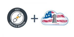 AWS Service Broker plus GovCloud logos.