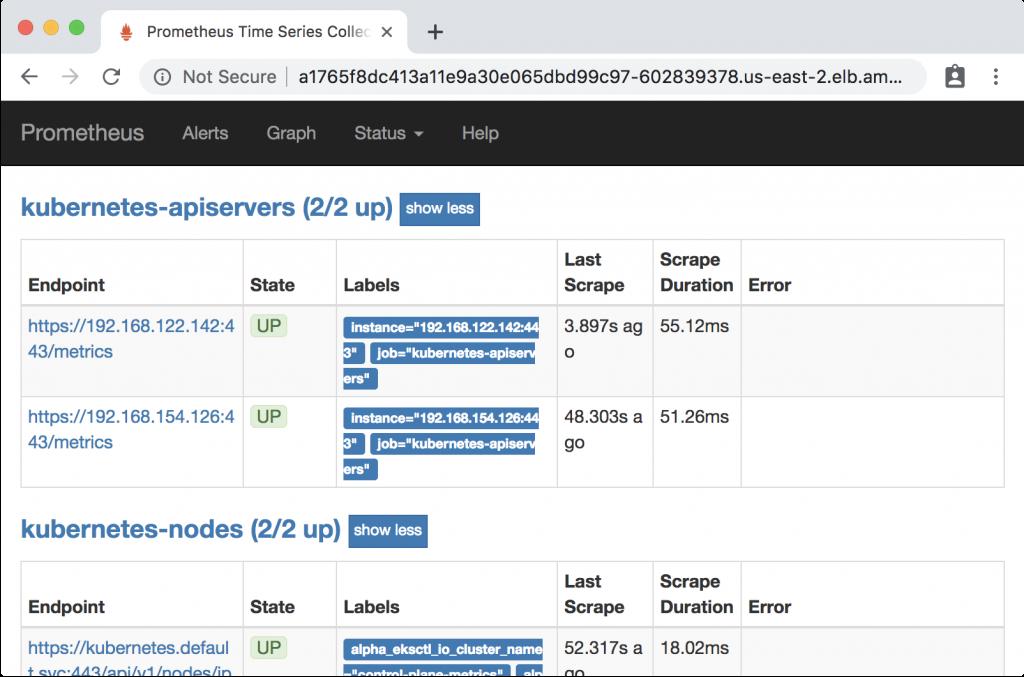 Amazon EKS Control Plane Metrics with Prometheus   AWS Open
