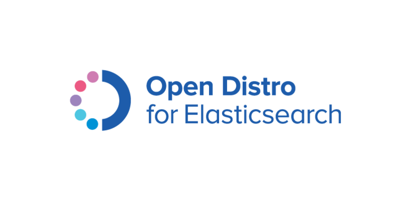 Open Distro for Elasticsearch logo.