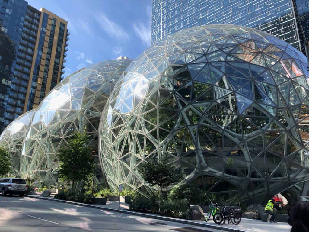 The Seattle Spheres - photo by Deirdré Straughan.