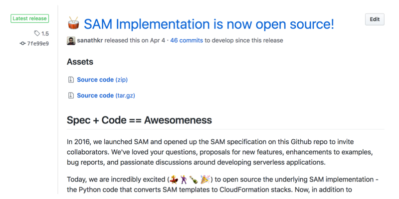 screenshot: SAM implementation is now open source.