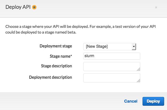 部署 API