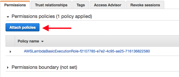 Permissions policies