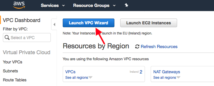 Launch VPC Wizard