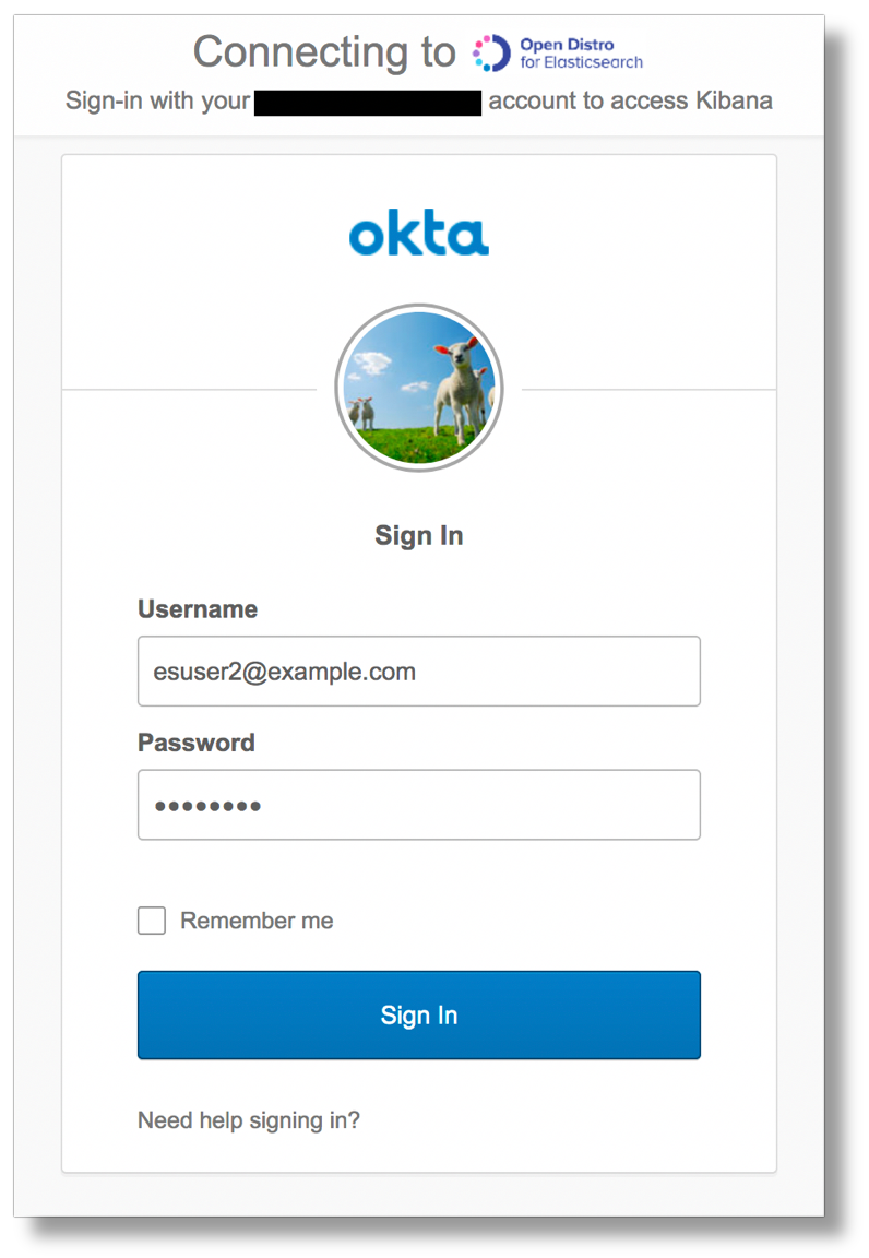 okta login screen