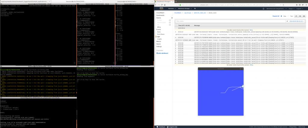 TurtleSim CloudWatch 测试示例。