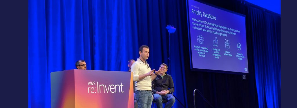 re:Invent 2019 AWS Amplify session video image.
