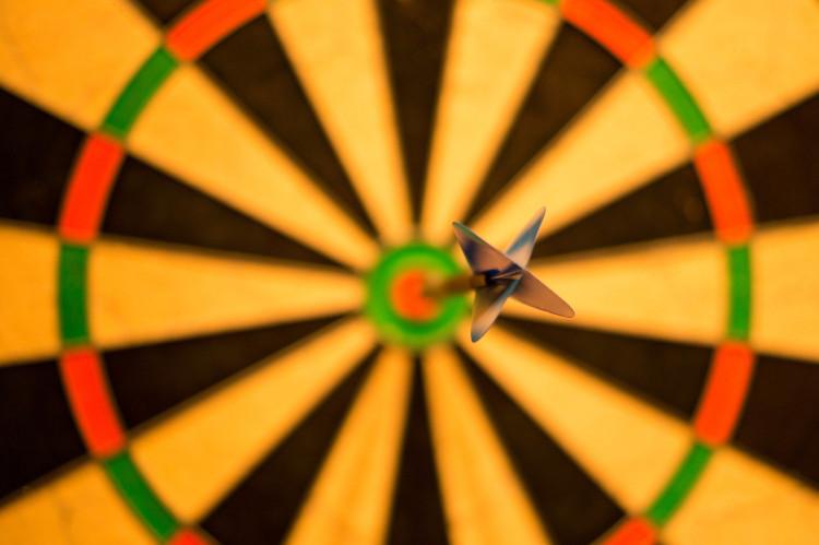 dart in the bullseye photo