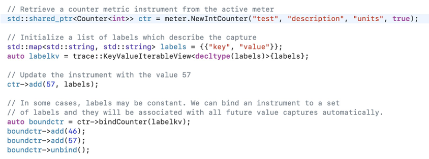 Instrument Use Code Snippet